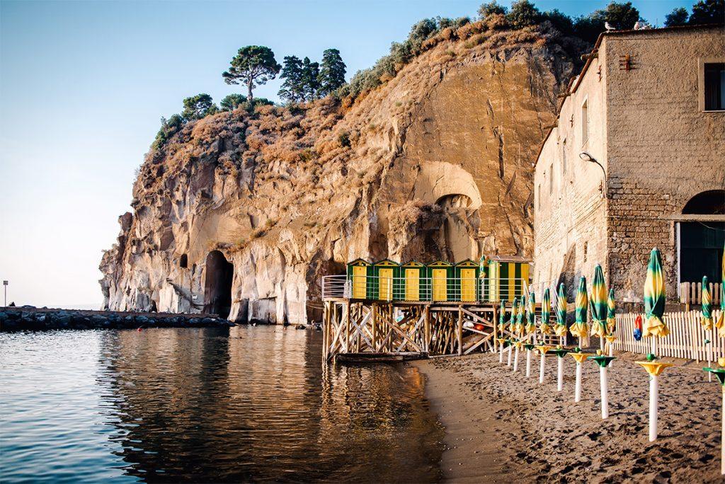 Cliffs at Marina di Cassano, Piano di Sorrento. Italy