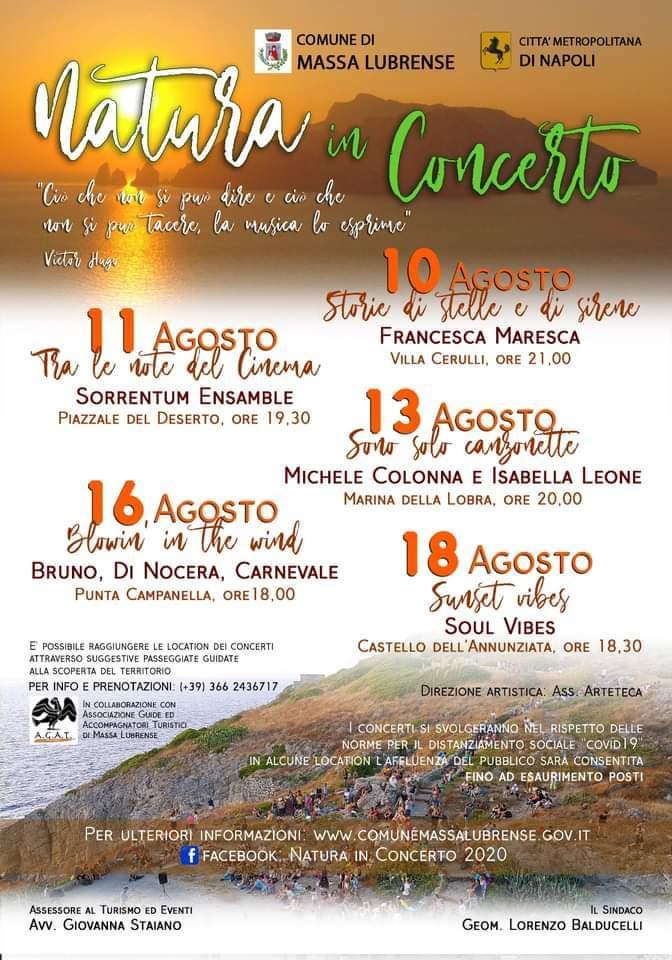 Calendario Eventi Natura in concerto Massa Lubrense