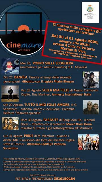 programma Cinemare Vico Equense 2020