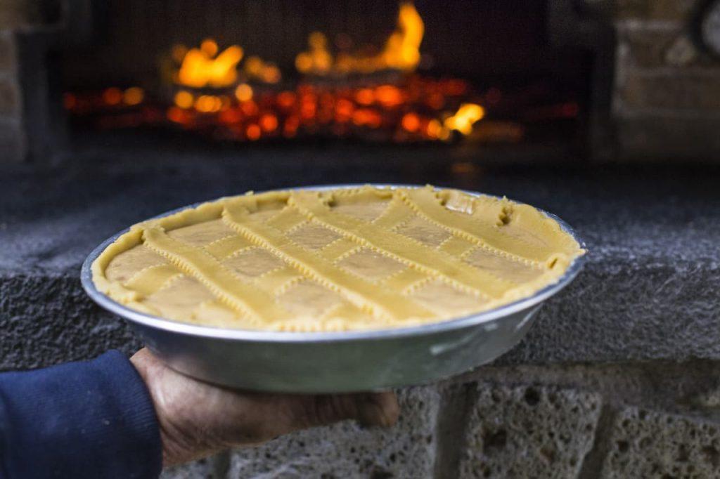 Preparazione pastiera napoletana about sorrento