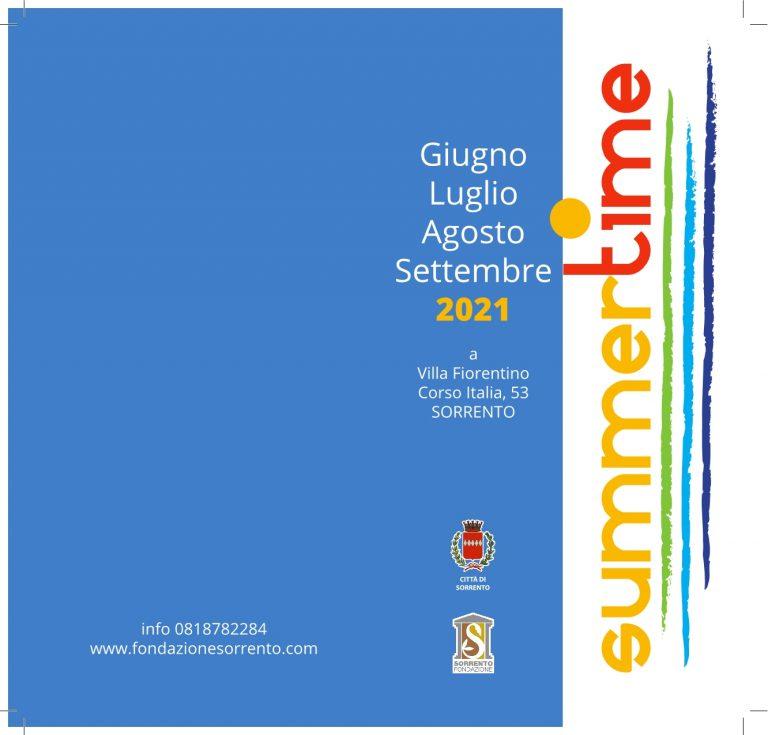 Eventi Estate 2021 Sorrento Villa Fiorentino Programma Summer Time