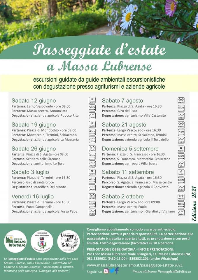 Passeggiate d'estate a Massa Lubrense guide gratutite 2021
