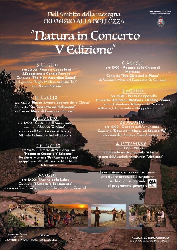 Eventi 2021 Massa Lubrense programma Natura in Concerto