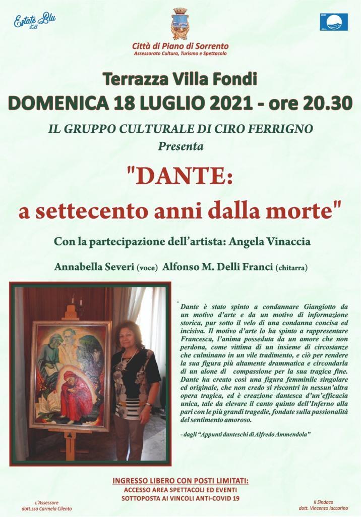 Eventi Piano di Sorrento estate 2021 Concerto Dante