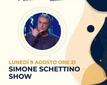 Eventi agosto 2021 aperitivo cena spettacolo Simone Schettino
