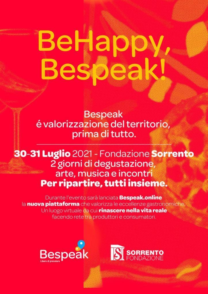 Eventi estate 2021 Sorrento Bespeak, degustazioni arte musica incontri