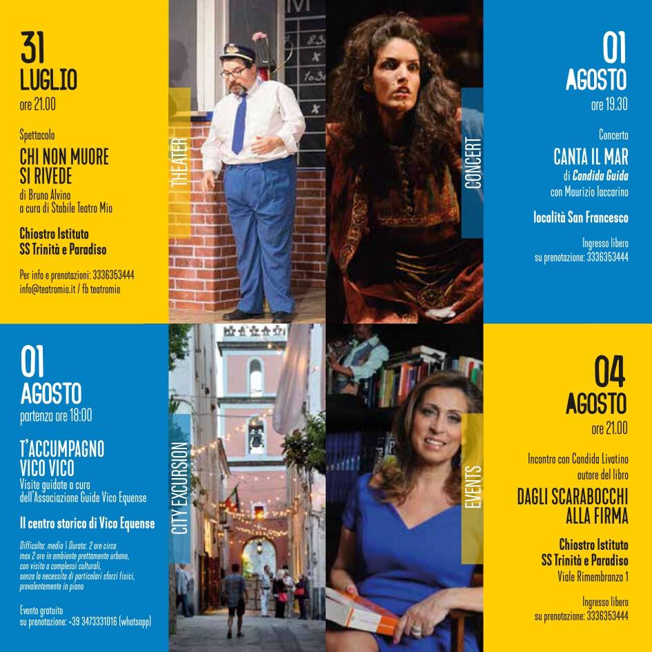 eventi estate 1-4 agosto 2021 Vico Equense Vico d'estate About Sorrento
