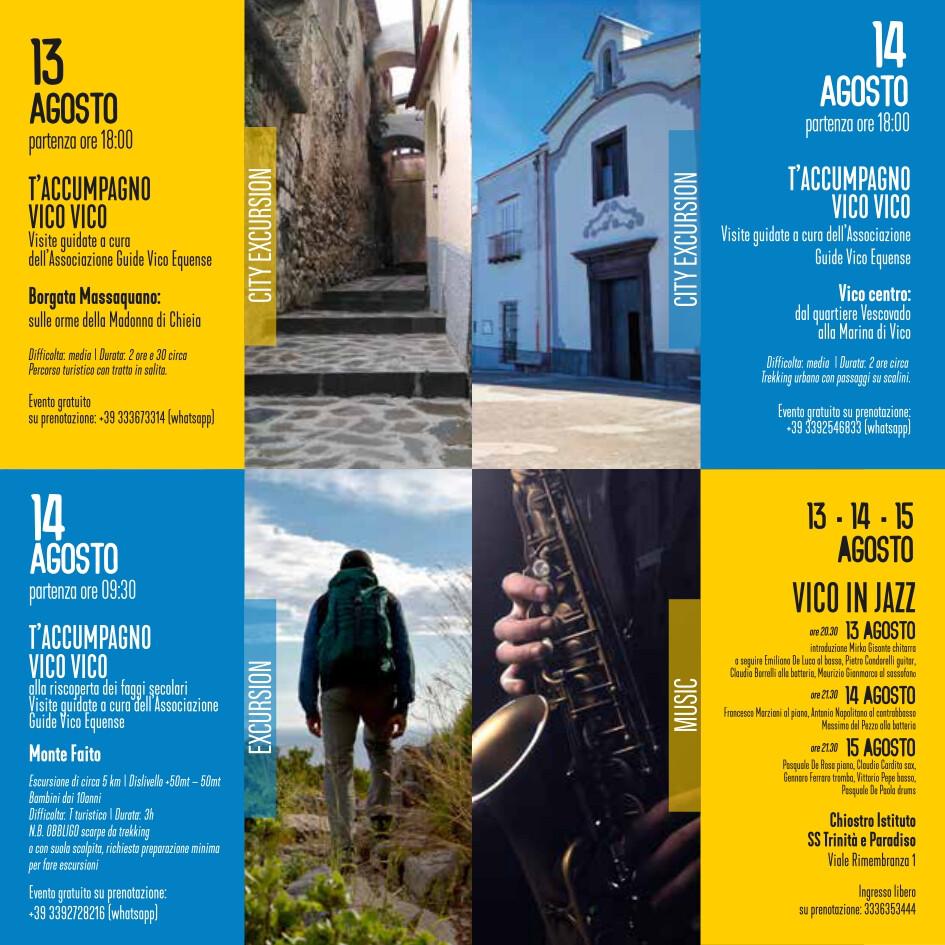 eventi estate 13-15 agosto 2021 Vico Equense Vico d'estate About Sorrento