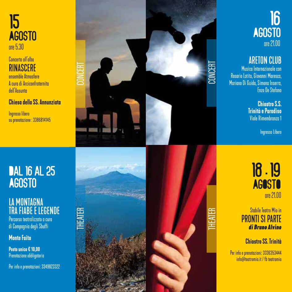 eventi estate 15-19 agosto 2021 Vico Equense Vico d'estate About Sorrento