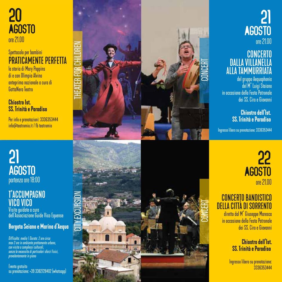eventi estate 20-22 agosto 2021 Vico Equense Vico d'estate About Sorrento