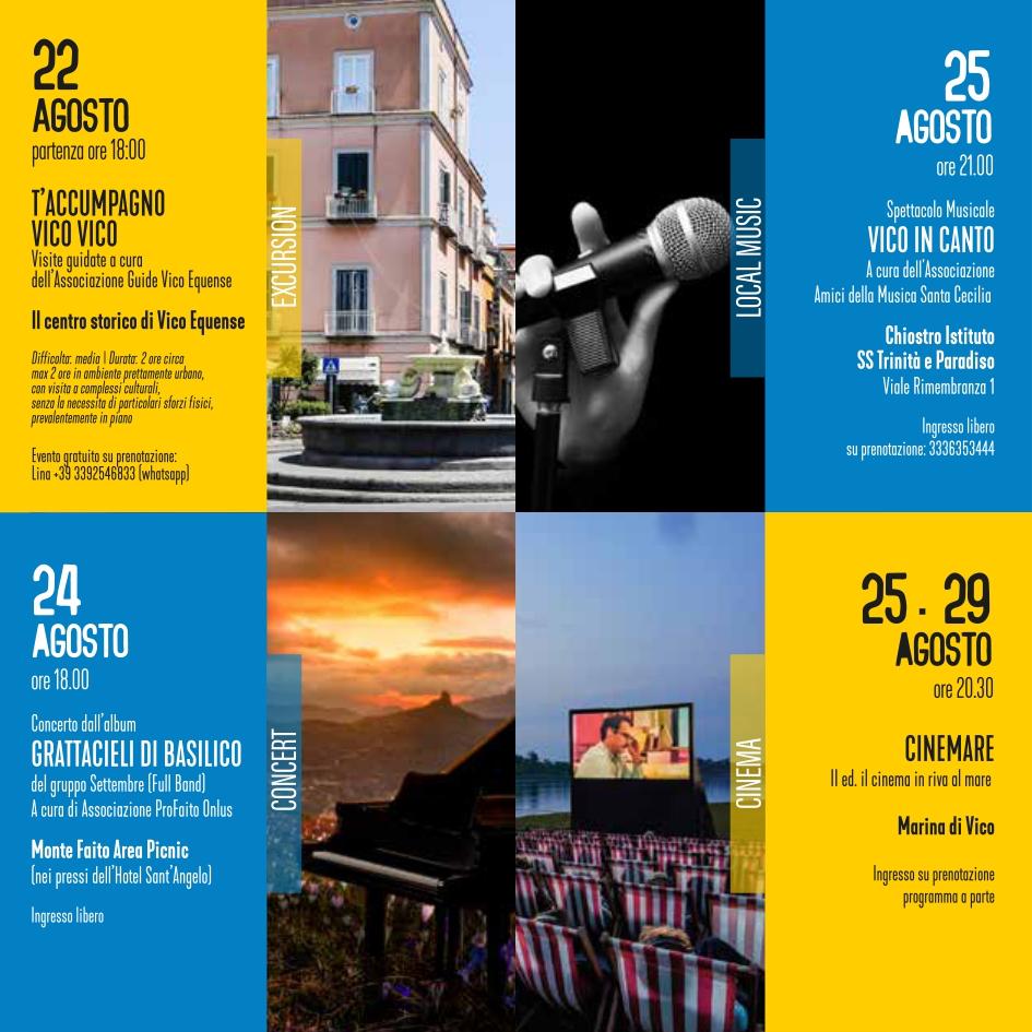 eventi estate 22-25 agosto 2021 Vico Equense Vico d'estate About Sorrento