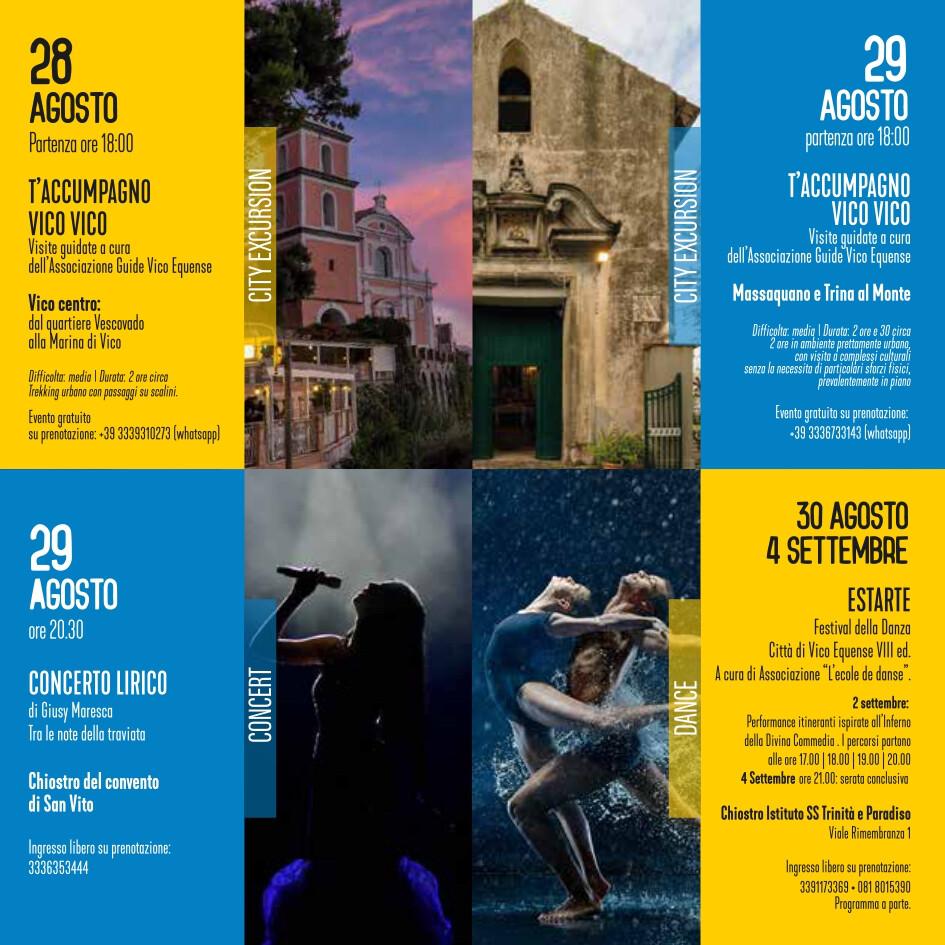 eventi estate 28-30 agosto 2021 Vico Equense Vico d'estate About Sorrento