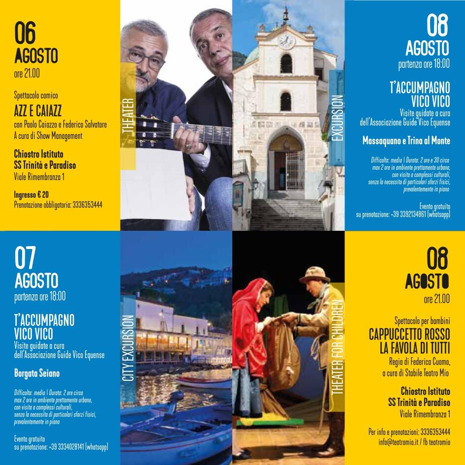 eventi estate 6-8 agosto 2021 Vico Equense Vico d'estate About Sorrento