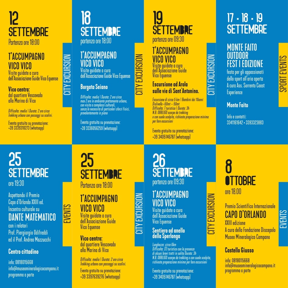 eventi estate settembre 2021 Vico Equense Vico d'estate About Sorrento