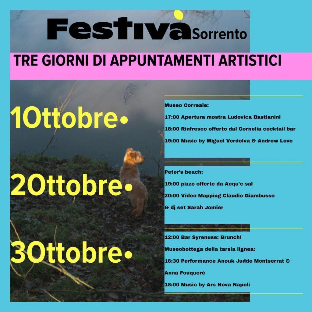 Eventi Sorrento 1 2 3 ottobre Programma Festivà - arte contemporanea