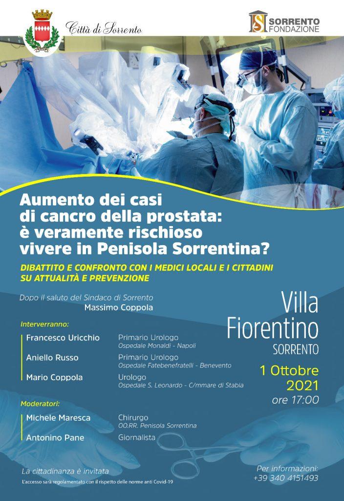 Eventi ottobre Sorrento - congresso sul cancro alla prostata in Penisola Sorrentina