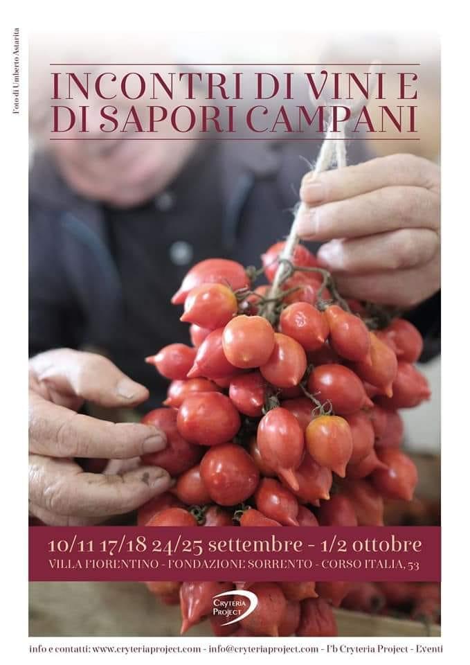 Eventi settembre 2021 - Incontri di vini e sapori campani - degustazioni
