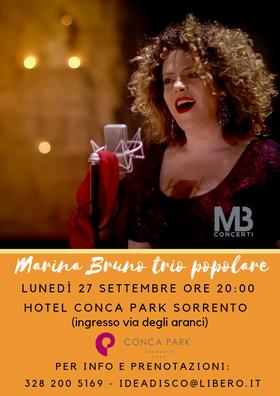 Eventi settembre 2021 Sorrento Marilena Bruno al Conca Park Sorrento