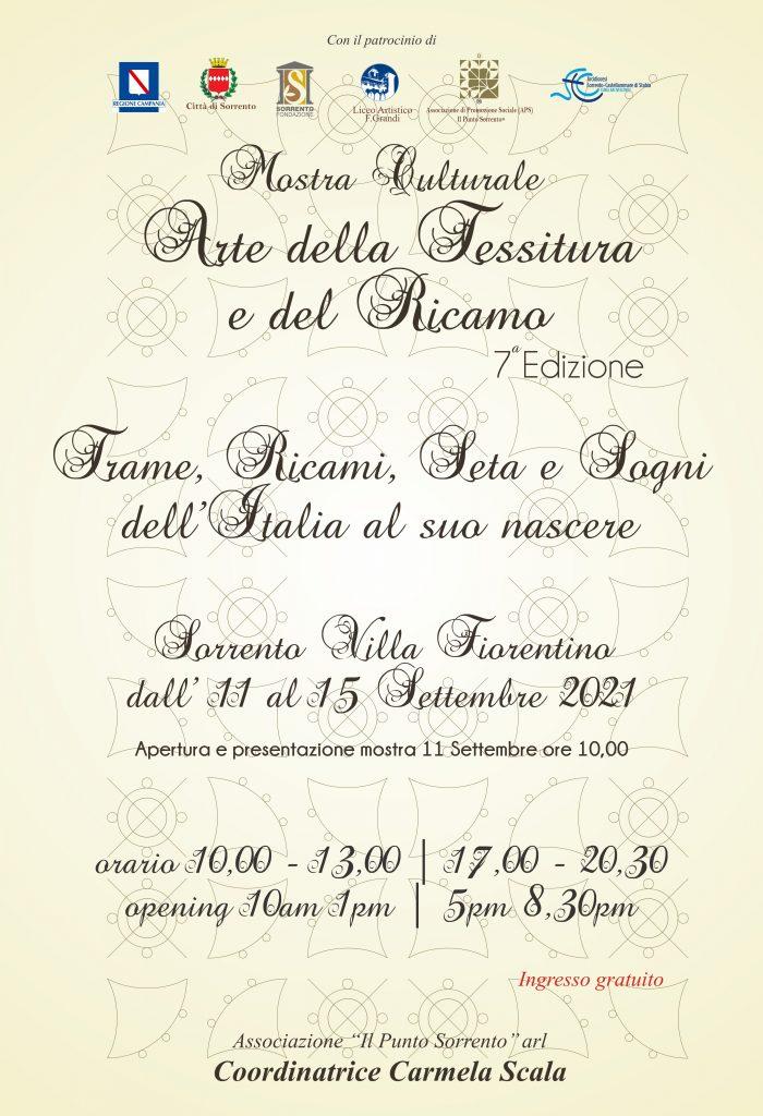 Eventi settembre 2021 Sorrento, mostra arte e tessitura Carmela Scala