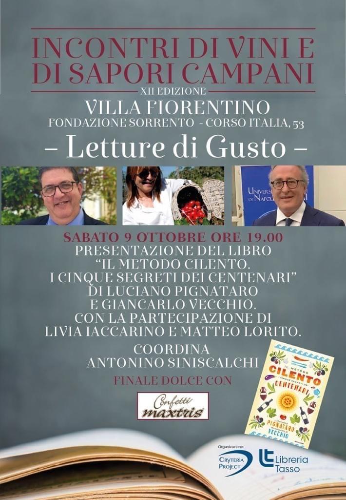 Eventi ottobre Sorrento Libro Luciano Pignataro Villa Fiorentino